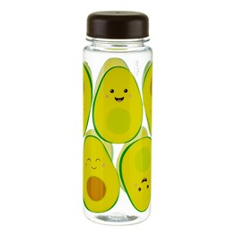 Happy Avocado Clear Water Bottle