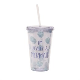 Mermaid Treasures Drinks Cup With Straw