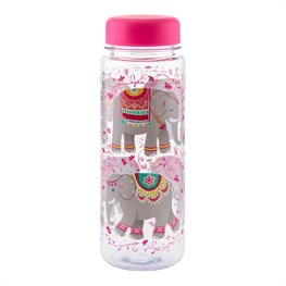 Mandala Elephant Clear Water Bottle