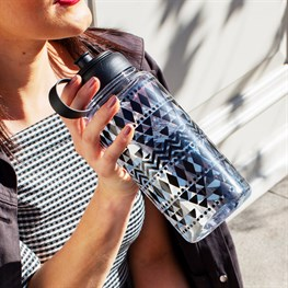 Scandi Boho Geo Water Bottle 1 Litre