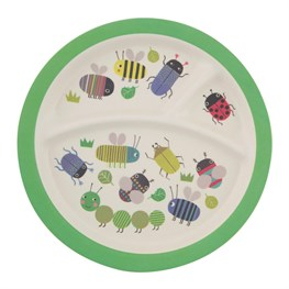 Busy Bugs Bamboo Kid's Plate
