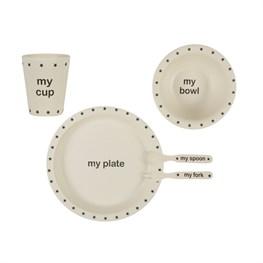 My Black Star Bamboo Tableware Set  sc 1 st  Sass and Belle & Kids Tableware