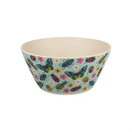Butterflies & Beetles Bamboo Salad Bowl