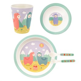 Little Llama Bamboo Tableware Set