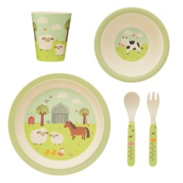 Farmyard Friends Bamboo Tableware Set
