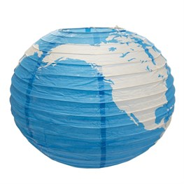 Blue Planet Round Lampshade