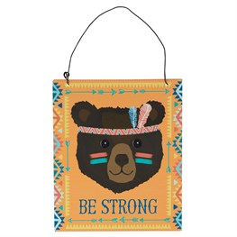 Be Strong Bear Animal Adventure Plaque