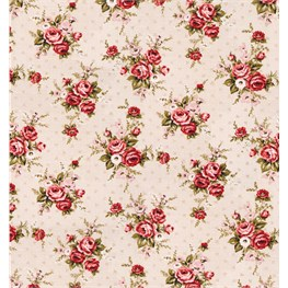 Vintage Floral Lady Antoinette Wrapping Paper  - 3 Sheets