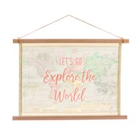 World Explorer Wall Hanging Canvas Print