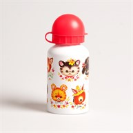 Retro Animal Faces Water Bottle