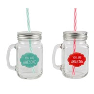 Awesome & Amazing Mason Drinking Jars (options available)