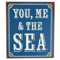 You Me the Sea Retro Wall Plaque