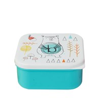 Alphabet Bear Square Lunch Box