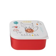 Alphabet Fox Square Lunch Box