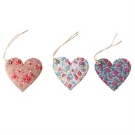 Set of 15 Heart Shaped English Garden Gift Tags