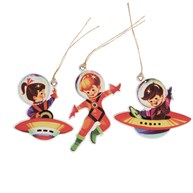 Set of 12 Retro Space Gift Tags