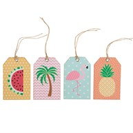 Set of 12 Tropical Summer Gift Tags