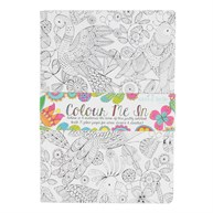 Colour Me in Tropical Birds A5 Notebook
