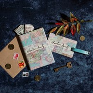 Vintage Map Collage Travel Set