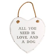 All You Need is Love & a Dog Heart Plaque