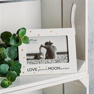 Love You to the Moon & Back Golden Stars Photo Frame
