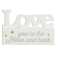 Love You to the Moon Golden Stars Decoration