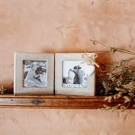 Ashley Farmhouse Mini Double Square Photo Frame
