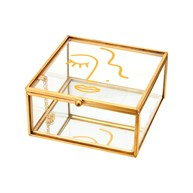 Abstract Face Glass Jewellery Box