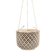 Black Geo Tahlia Hanging Planter
