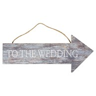 To the Wedding Coastal Chic Hanging Sign