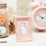 Cutie Cat Glitter Photo Block