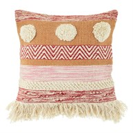 Nevada Pink Woven Stripe Cushion