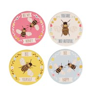 Bees Coasters - Set of 4