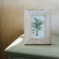 Wooden Tribal Diamond Photo Frame