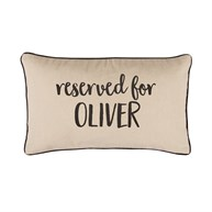 Reserved For Personalised Cushion Natural
