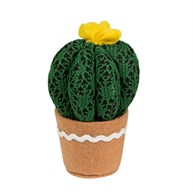 Yellow Colourful Cactus Fabric Round Decoration