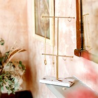Double Terrazzo Gold Jewellery Stand
