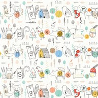 Woodland Alphabet Wrapping Paper  - 3 Sheets