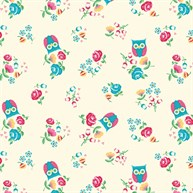 Jackie Owl Wrapping Paper  - 3 Sheets