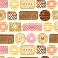 Tea Party Biscuit Wrapping Paper  - 3 Sheets