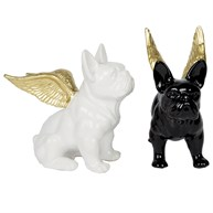 Bulldog with Gold Wings Money Box Large (options available)