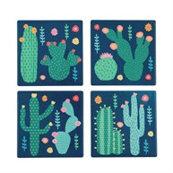 Set of 4 Colourful Cactus Coasters
