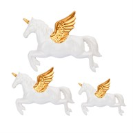 Set of 3 Flying Unicorn Wall Decorations
