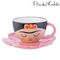 Frida Cup and Flower Saucer Set