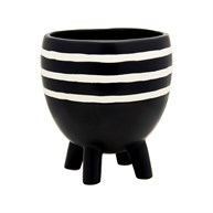 Striped Planter On Legs