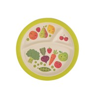 Happy Fruit & Veg Bamboo Kid's Plate