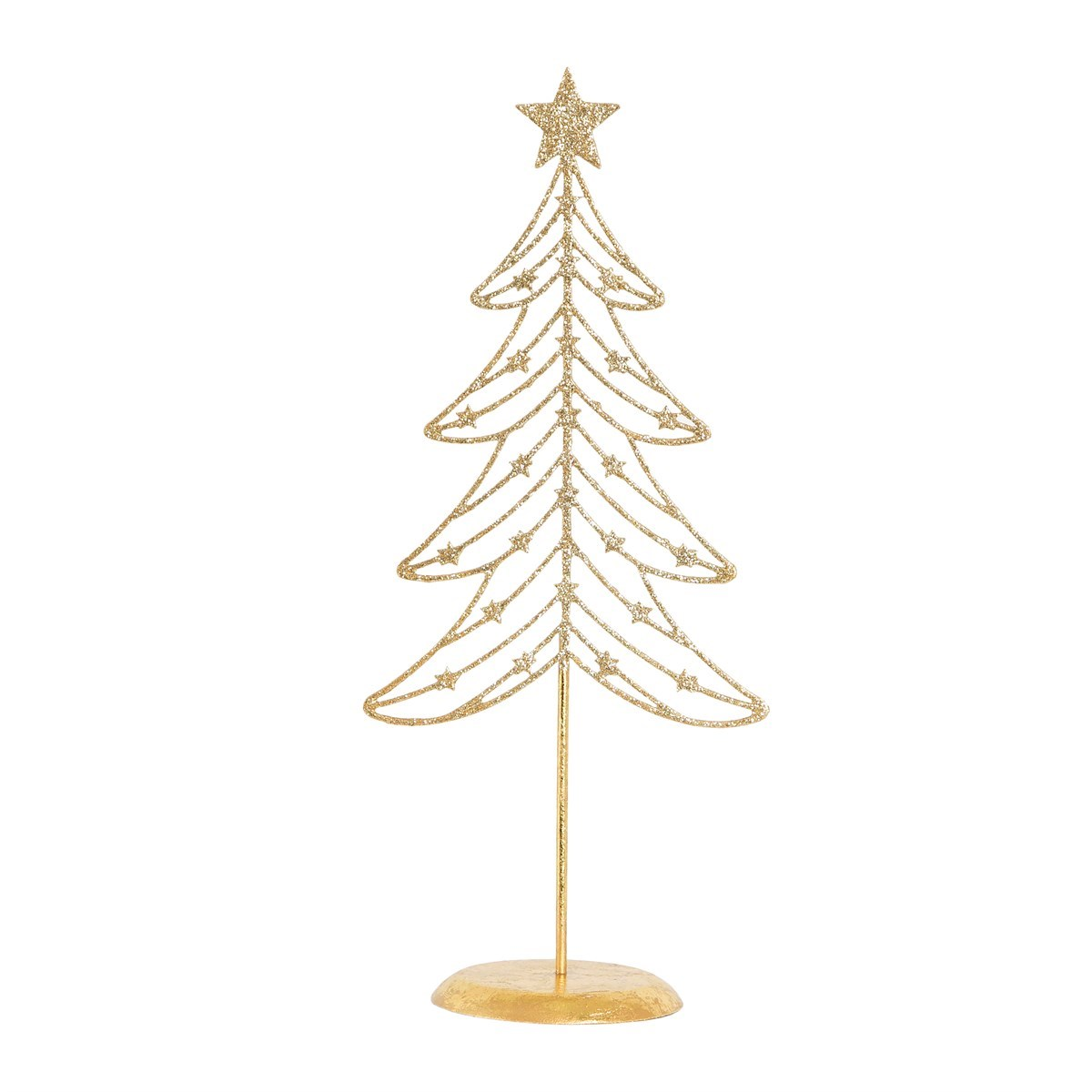 Wire Christmas Tree.Gold Glitter Wire Christmas Tree Decoration