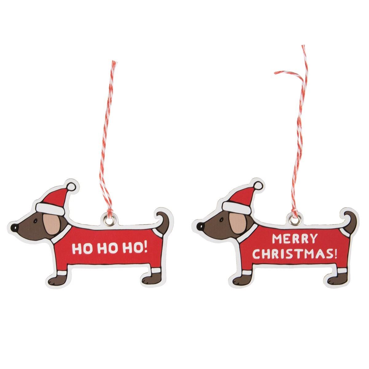 Set of 12 Christmas Dachshund Gift Tags