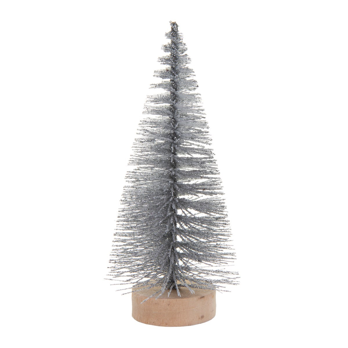 small frosty christmas tree standing decoration default image