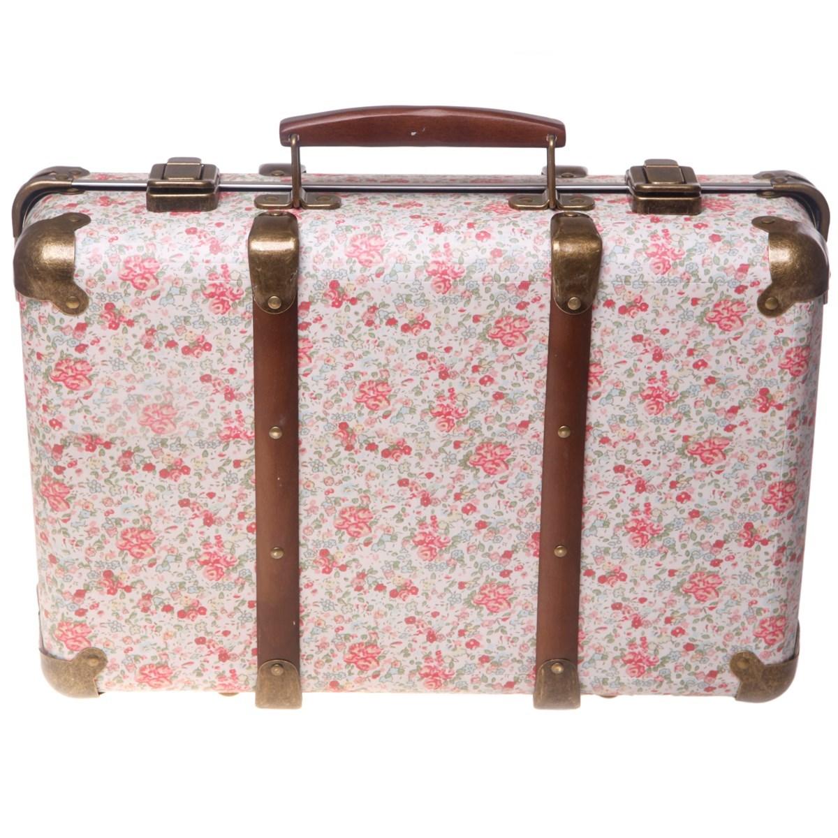 Vintage Floral Suitcase - Roses